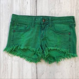 Wildfox Green Shorts Size 25